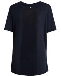 Raquel Allegra Shredded Front Cotton Blend T Shirt
