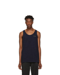 Saturdays Nyc Blue And Black Nick Tank Top