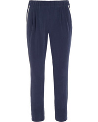 Equipment Hadley Washed Silk Tapered Pants