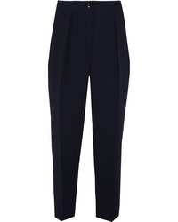 See by chlo tapered crepe pants navy medium 3761818