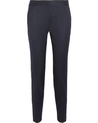 Vivian wool twill tapered pants midnight blue medium 3731719