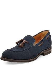Navy Tassel Loafers