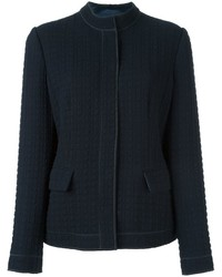Armani Collezioni Textured Fitted Jacket