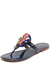 Navy Thong Sandals