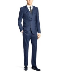 Hugo Boss Adanzweyllha Slim Fit Stretch Italian Virgin Wool 3 Piece Suit