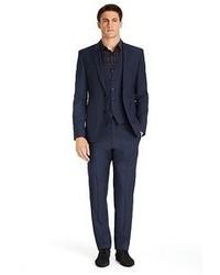 Hugo Boss Arnotwentonha Slim Fit Super 100 Virgin Wool 3 Piece Suit
