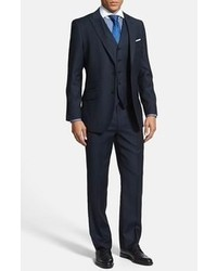 English Laundry Trim Fit Three Piece Suit Blue 46r