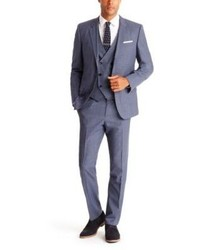 Hugo Boss Herisongeron We Slim Fit Super 130 Italian Virgin Wool 3 Piece Suit
