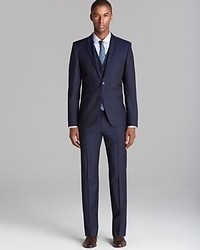 Hugo Arant Won Hixby Herringbone Three Piece Suit Slim Fit