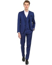 Canali Milano 73 Wool Mohair 3 Piece Suit