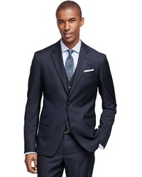 Brooks Brothers Milano Fit Three Piece Double Stripe 1818 Suit
