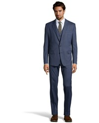Dolce & Gabbana Natural Wool 2 Button Martini 3 Piece Suit With Flat Front Pants