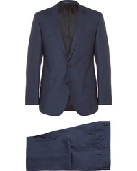 Hugo Boss Navy Slim Fit Wool And Silk Blend Three Piece Suit