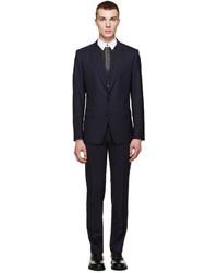 Dolce & Gabbana Navy Three Piece Martini Suit