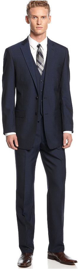 Calvin Klein Navy Vested X Slim Fit Suit