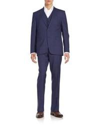 Slim Fit Wool Three Piece Suit