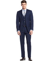 Calvin Klein X Navy Vested Slim Fit Suit