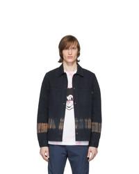 Ps By Paul Smith Navy Tie Dye Jacket