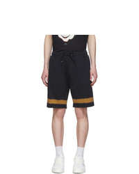 Ps By Paul Smith Navy And Orange Tie Dye Stripe Shorts