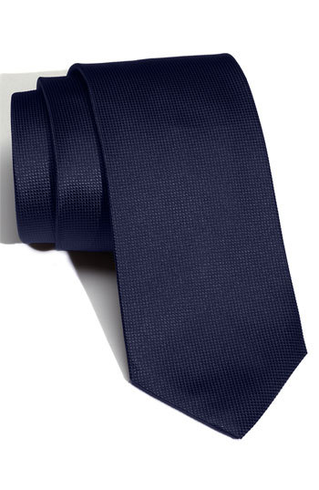 ... BOSS HUGO BOSS Woven Silk Tie Navy Regular