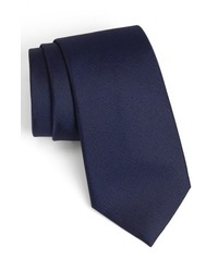Calibrate Woven Silk Tie Navy X Long