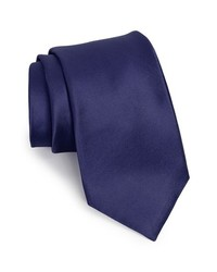 Nordstrom woven silk tie navy regular medium 135708
