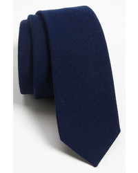 The Tie Bar Solid Wool Blend Skinny Tie