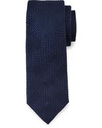 83cd715cc1a3 Burberry Textured Tonal Check Knit Silk Tie Navy, $190 | Neiman ...