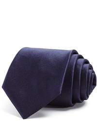 Saint Laurent Yves Satin Solid Skinny Tie