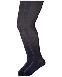 Jefferies Socks Cotton Rib Tights 2 Pack Hose