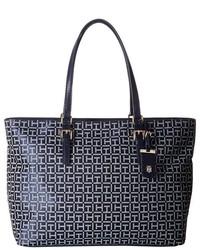 Tommy Hilfiger Julia Signature Jacquard Tote Tote Handbags
