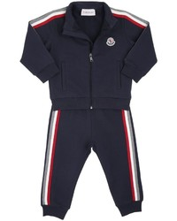 Moncler Knit Stripes Cotton Sweatshirt Pants