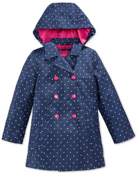 London Fog Little Girls Floral Print Trench Coat