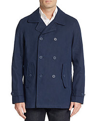 Ben Sherman Double Breasted Cotton Blend Jacket