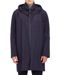 Jil Sander Hooded Raincoat Blue