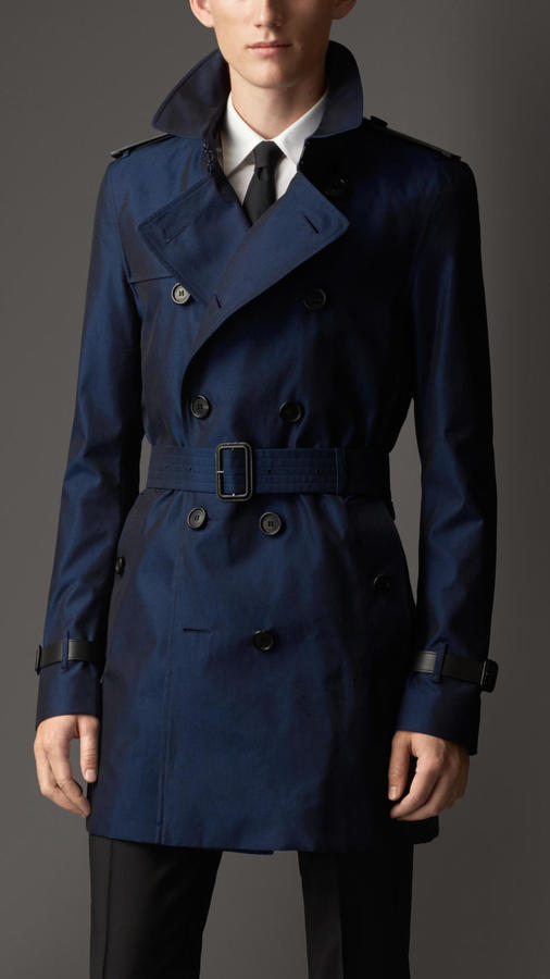 b2f5256bf321 ... Burberry Leather Detail Cotton Gabardine Trench Coat ...