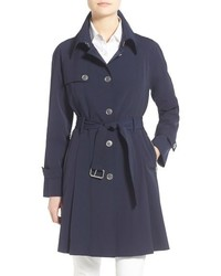 Trina Turk Lilian Pleated Single Breasted Trench Coat