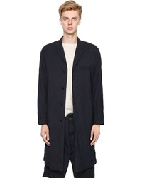 Marni Wrinkled Light Wool Gabardine Overcoat
