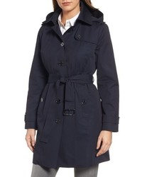 Michl michl kors core trench coat with removable hood liner medium 5260051