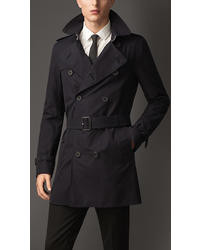 Burberry Mid Length Striped Undercollar Trench Coat