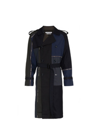 Children Of The Discordance Multi Patch Stripe Cotton Trench Coat