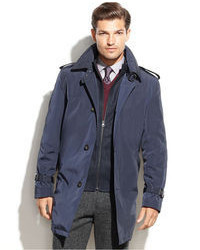 Tommy Hilfiger Rain Coat With Interior Fleece Trim Fit