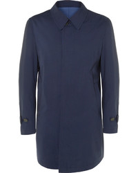 Canali Reversible Wool Twill Raincoat