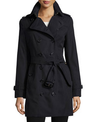 Burberry Sandringham Double Breasted Slim Fit Trenchcoat Navy