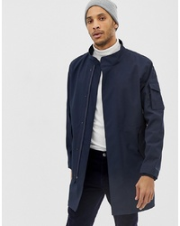 Selected Homme Technical Bonded Trench Coat With Storm Features