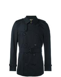 Burberry The Kensington Short Trench Coat Blue