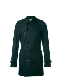 Burberry The Sandringham Mid Length Trench Coat Blue