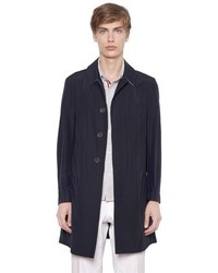 Thom Browne Cotton Blend Poplin Overcoat