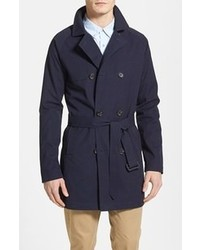 Topman Double Breasted Trench Coat