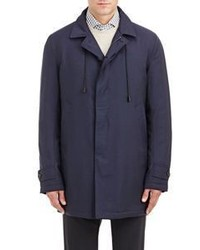 Barneys New York Water Resistant Raincoat Blue